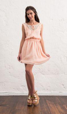 Look Bohême avec cette robe rose poudre (#palepink) sur http://shop.redsoul.fr #women #summer #fashion #printempsete #outfit #mode #redsoul
