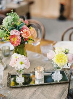 #posies  Photography: Linda Chaja Photography - lindachaja.com Floral Design: NLC Productions - nicosb.com Event Coordination + Design: Magnolia Event Design - magnoliaed.com  Read More: http://www.stylemepretty.com/2012/03/12/backyard-wedding-by-linda-chaja-photography-magnolia-event-design/