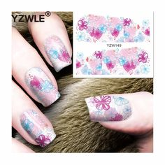 [Visit to Buy] YZWLE 1 Sheet DIY Decals Nails Art Water Transfer Printing Stickers Accessories For Manicure Salon (YZW-149) #Advertisement