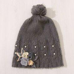 Broszki do zobaczenia na Dawanda lub na blogu #filc #broszka #broszki #komodapomyslow #handmade #diy #felt #feltidea #feltflower #flower Knitted Hats, Beanie, Knitting, Fashion, Moda, Tricot, Fashion Styles, Breien, Stricken