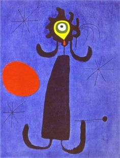 Woman in Front of the Sun - Joan Miro