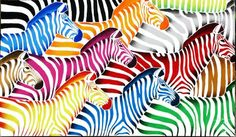 "Saatchi Art Artist Poggetti Christian; Painting, ""zebre 10063"" #art"