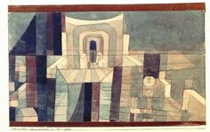 Paul Klee Architecture in Red and Green 1921