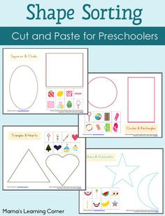 4-page+set+of+Preschool+Shape+Sorting+Worksheets+-+a+neat+cut+and+paste+activity!