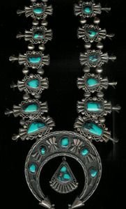 Squash Blossom Necklace_Bisbee Turquoise John Herald