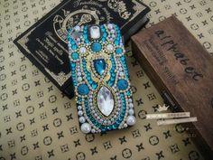 India blues alloy diy bling phone deco kit  | chriszcoolstuff - Craft Supplies on ArtFire