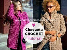 Cardigan tejido a crochet con tutorial en video