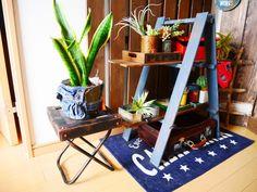 セリアの鉄板風リメイクシートでプランタースタンド(鉢台)をDIY