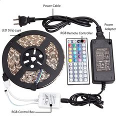 Led Light Strips With Remote Prepossessing Le 12V Flexible Rgb Led Strip Light Kit Led Strips 164Ft5M Multi
