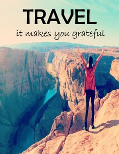 Travel heals depression because it makes you grateful! #travel #grateful www.1fungrltravels.com