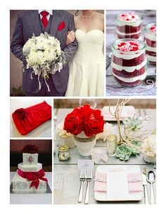 red gray wedding - Google Search