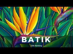 BATIK SILK PAINTING WITH JEAN-BAPTISTE - FINE ART - BIRD OF PARADISE - YouTube