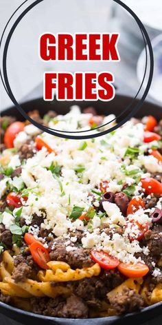 Mediterranean recipes are never out of style! These Greek fries are loaded with good stuff and they are so easy to make. They are great game-day food or party recipes, but they also make a fantastic weeknight meal!