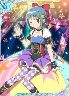 Sayaka - Madoka Magica Silly Circus Outfits  - Madoka Magica Mobage Cards