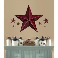 Star Wall Decor | ... Barn Star Wall Decals Country Kitchen Stars Stickers Decor | eBay