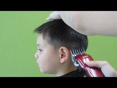 Little boy's clipper haircut (straight hair) - YouTube