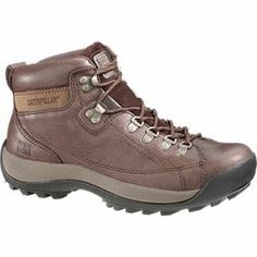 CAT Active Alaska Chocolate Hiker Boot: Sport meets street meets work. This midcut shoe can be whatever you need it to be. We have manufactured colors to fit your fun and practical sides. Leather uppers have breathable mesh and Nylex lining for optimum performance. Flexible cement construction on a rubber outsole.