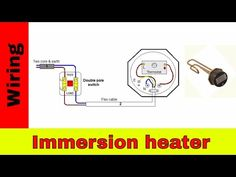 How to wire immersion heater UK - YouTube