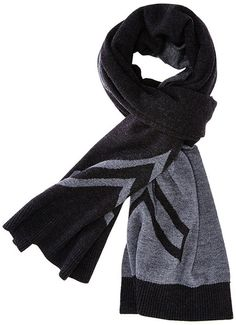 CADET Chevron Knit Scarf - The CADET signature double-face scarf with an intarsia chevron knit on both sides. A luxurious and classic scarf for your warmth and styling needs. Jersey knit with rib trim at both ends of scarf. Charcoal and light grey. - 100% Merino Wool. - Length: 80 inches 18.5 inches.
