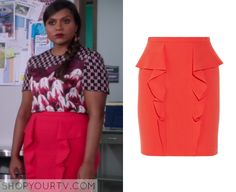 The Mindy Project: Season 3 Episode 14 Mindy's Red Ruffle Skirt