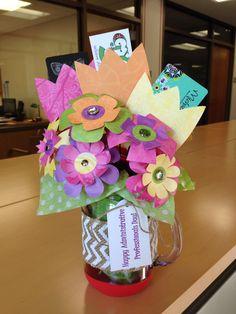 Admin Assistant gift: travel mug,dove chocolate, mentos ,cards ...