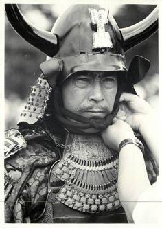 "jailhouse41: "" Behind the scenes on Samurai Banners (風林火山), 1969, directed by Hiroshi Inagaki (稲垣 浩) and starring Toshiro Mifune (三船 敏郎). """
