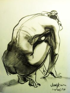Figure Drawing Poses It's not fashion illustration but a life drawing but fashion should be drawn this way from life! not from stupid templates! Gesture Drawing, Anatomy Drawing, Drawing Poses, Life Drawing, Drawing Sketches, Art Drawings, Figure Drawings, Drawing Tips, Contour Drawings
