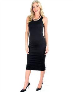 b6c6bfe5d9b53 Racerback Black Bodycon Dress Cute Black Dress