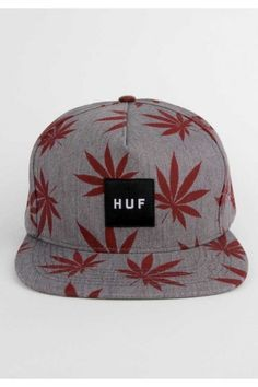 HUF Clothing Plantlife Box Logo Snapback Hat - Heather Grey $36.00 #huf #plantlife