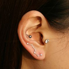 The Big dipper constellation earring in sterling silver.