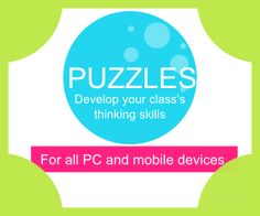 Puzzles and thinking skills iPad Android IWB resources