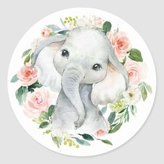 Shop Cute Baby Girl Elephant Floral Envelope Seal created by DancingPelican. Baby Elephant Drawing, Baby Animal Drawings, Cute Baby Elephant, Elephant Baby Showers, Elephant Art, Cute Baby Animals, Cute Baby Drawings, Elephant Drawings, Baby Girl Drawing