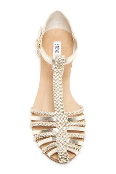 Gold Braided Sandals