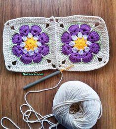 Watch The Video Splendid Crochet a Puff Flower Ideas. Phenomenal Crochet a Puff Flower Ideas. Crochet Square Blanket, Crochet Hook Set, Baby Afghan Crochet, Granny Square Crochet Pattern, Crochet Pillow, Crochet Squares, Crochet African Flowers, Crochet Puff Flower, Crochet Flowers
