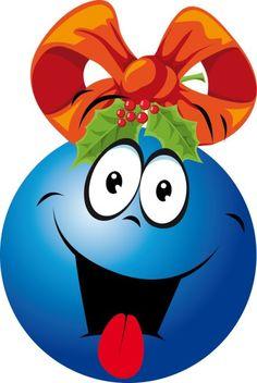 emociones con bolas de Navidad | Mírame y aprenderás Smileys, Christmas Emoticons, Good Morning Smiley, More Emojis, Emoticon Faces, Smiley Faces, Smiley Emoji, Funny Emoji, Funny Faces