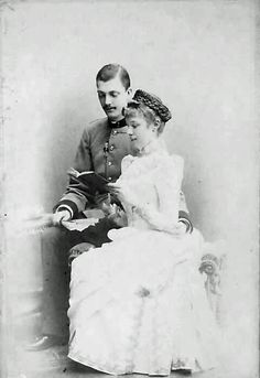 Archduchess Marie Valerie of Austria (1868 – 1924) and her husband Archduke Franz Salvator, of Austria, Prince of Tuscany  (1866 – 1939).