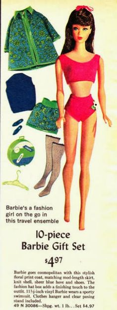 My Vintage Barbies Blog: Barbie of the Month: The Standard (Straight-Leg) Barbie