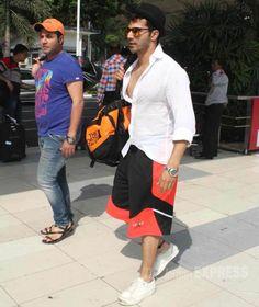 Varun Dhawan spotted at Mumbai airport. #Bollywood #Fashion #Style #Handsome