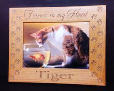 Cat Memorial Frame 5x7 Pet Custom Laser Engraved Frame