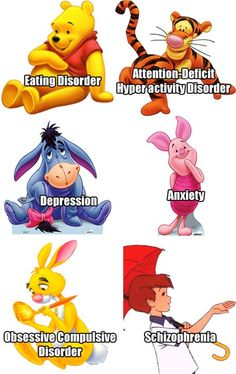 Whinnie the Pooh character disorders.