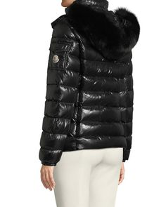 Moncler Badyfur Puffer Jacket W/ Removable Fur Hood Moncler Jacket Women, Stylish Coat, Anorak Jacket, Casual Summer Outfits, Puffer Jackets, Black Denim, Jackets For Women, Womens Fashion, Fur