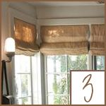 burlap window shades farmhouse burlap window treatments hmm might mimic this with the dropcloths we just got roman shade maybe for kitchen sewing projects pinterest