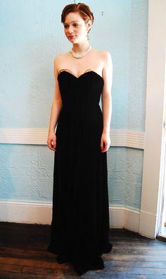 Vintage 1930s Evening Gown - Black Velvet #fashion #style