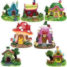 Miniature Resin Thatched House Fairy Garden Micro Landscape Ornament Decor DIY