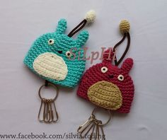 Totoro Keychain #crochet #rajut