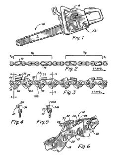 Chainsaw chain technical drawing - Google Search