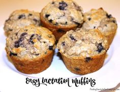 Nursing moms often struggle with their milk supply. Give it a boost with these tasty and easy lactation muffins. #breastfeeding #nursing #lacation