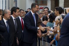 King Felipe VI of Spain arrives at the Malaga Picasso Museum on September 5, 2014 in Malaga, Spain.