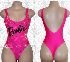 Barbie Bodysuit, Rave Bodysuit, Pink Bodysuit, Cute Swag Outfits, Rave Outfits, Sexy Outfits, Girl Outfits, Fashion Outfits, Hot Pink Swimsuit