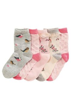 Buy Five Pack Pretty Pink Socks (Older Girls) from the Next UK online shop
